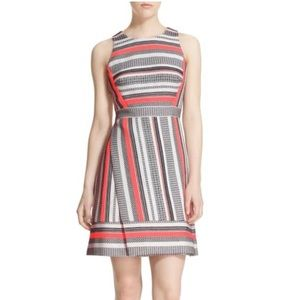Kate spade ribbon jacquard a-line dress